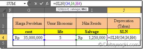 fungsi SLN
