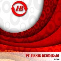 Design Cover Company Profile PT. Hanik Berdikari